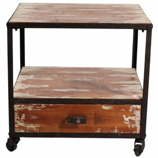 Loon Peak Wilmer Wooden End Table with Storage