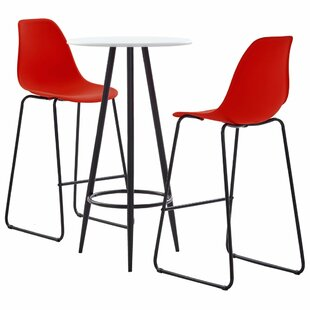 Bellario Dining Set With 2 Chairs By 17 Stories