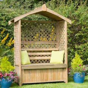 Naber 2 Seater Wooden Arbour With Storage By Sol 72 Outdoor