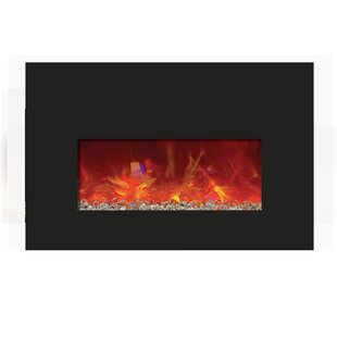 Rauth  Recessed Wall Mounted Electric Fireplace By Orren Ellis