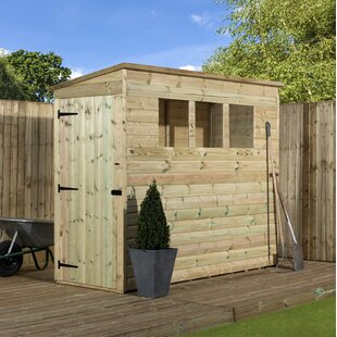 Review 3 Ft. W X 6 Ft. D Shiplap Pent Wooden Shed