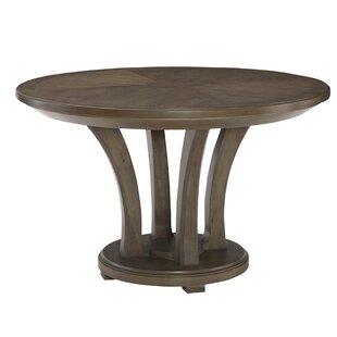 Gracie Oaks Baford Round Solid Wood Dinin..