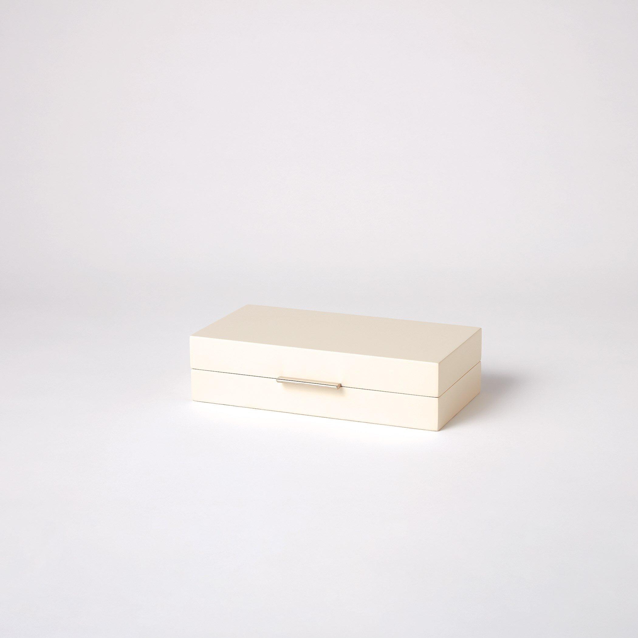 Luxe Organizer Ivory Decorative Box