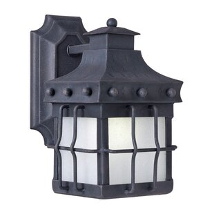 Compare prices Harbiye 1-Light Outdoor Wall Lantern By Loon Peak