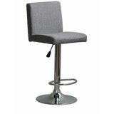 Strohl Modern Fabric Adjustable Height Swivel Bar Stool (Set of 2) by Ebern Designs