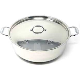 Better Chef 10-qt. Real Low Cookware Stock Pot with Lid