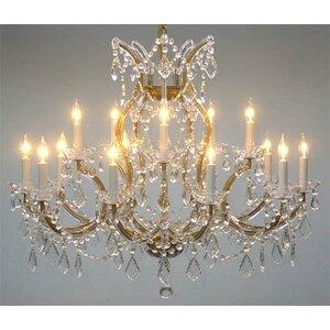 Alvarado 16-Lighting Crystal Chandelier
