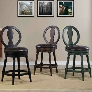 Hasse 24 Swivel Bar Stool by Alcott Hill