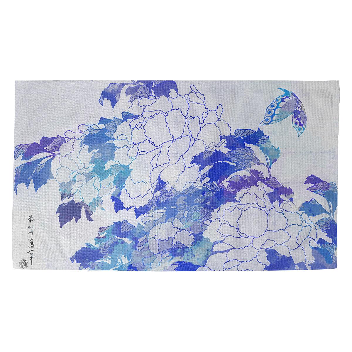 World Menageriewatercolor Peonies And Butterfly Indoor Door Mat Wayfair