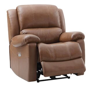 Schechter Leather Power Recliner
