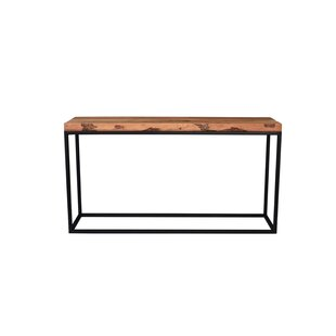 Loon Peak Westerberg Trim Live Edge Console Table