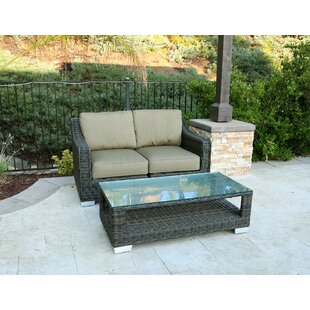 Suai 6 Piece Rattan Sunbrella Sofa Seating Group with Cushions ByBrayden Studio