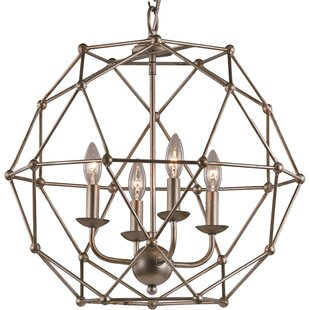 Mercury Row Cavanagh 4-Light Geometric Chandelier
