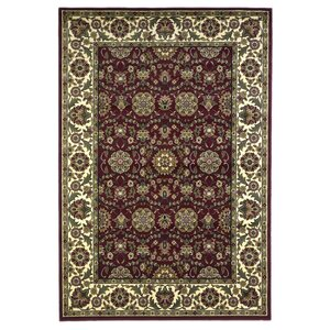 Bellville Red / Ivory Floral Area Rug