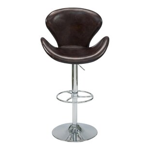 Laymon Adjustable Height Swivel Bar Stool Brayden Studio