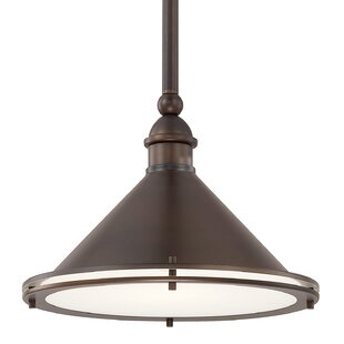Latitude Run Chet 1-Light Bowl Pendant
