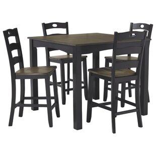 Penzance 5 Piece Pub Table Set