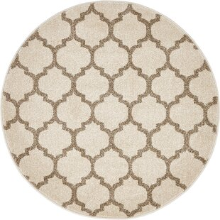 Moore Power Loomed Beige/Tan Area Rug by Charlton Home