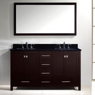 Inexpensive Raishon 61 Double Bathroom Vanity Set with Mirror ByWilla Arlo Interiors