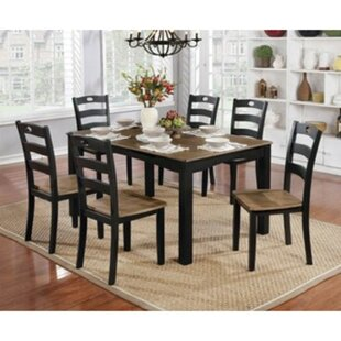 Valladares 7 Piece Solid Wood Dining Set August Grove