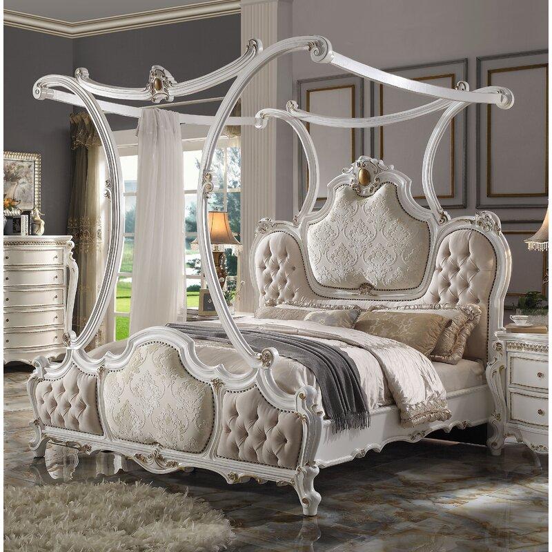 One Allium Way Valparaiso Canopy Solid Wood Configurable Bedroom Set Wayfair
