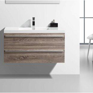 Bolivia 43 Wall-Mounted Single Bathroom Vanity Set By Foundry Select