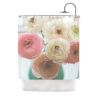 Pastel Ranunculus by Debbra Obertanec Single Shower Curtain