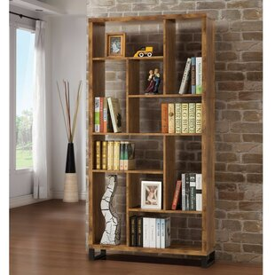 Mccaffery Sleek and Sophisticated Geometric Bookcase by Williston Forge