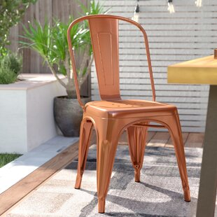 Tollison Stacking Patio Dining Chair by Turn on the Brights Great Reviews