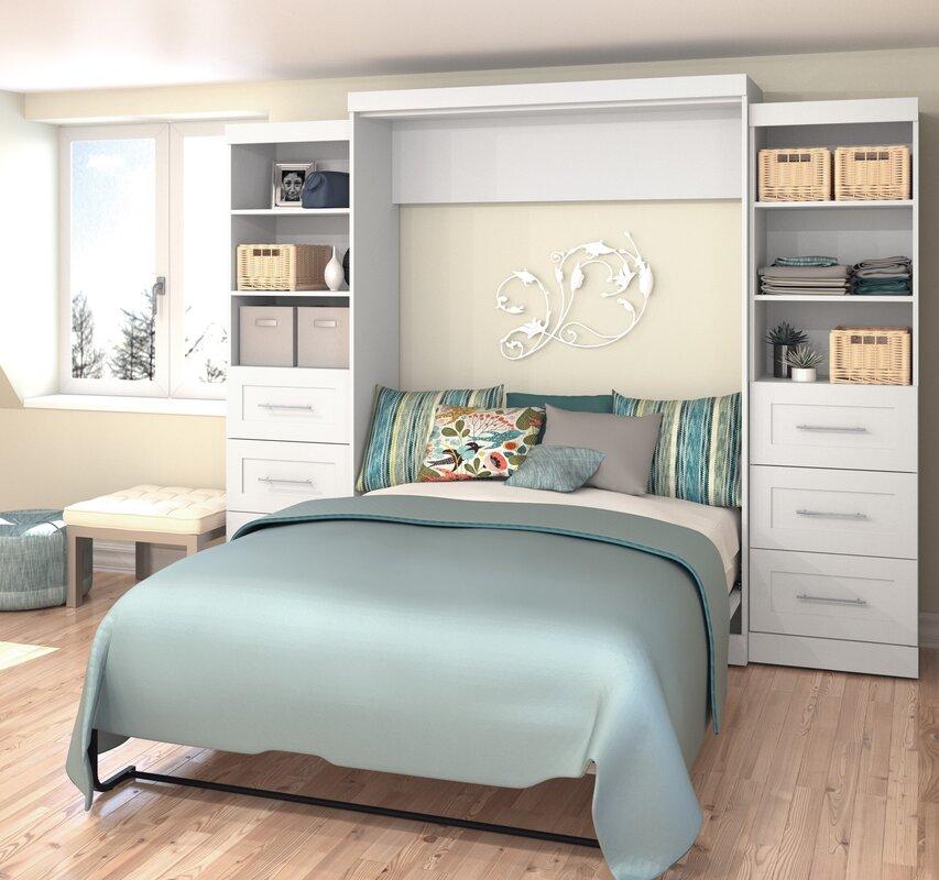 Red Barrel Studio Jordan Queen Storage Murphy Bed
