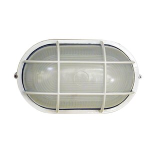 Read Reviews Dylan 1-Light Outdoor Bulkhead Light By Whitfield Lighting