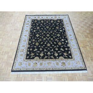 Savings One-of-a-Kind Josephson Hand-Knotted Wool Black Area Rug ByCanora Grey