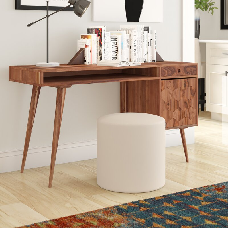 Solid wood computer desks Corner Lietz Solid Wood Computer Desk Allmodern Lietz Solid Wood Computer Desk Reviews Allmodern