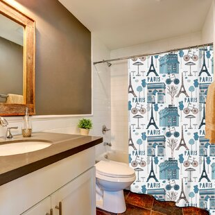 Affordable Ortez Paris Print Shower Curtain By Ebern Designs