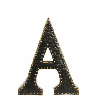 Metal Letter Wall Décor With Rivets