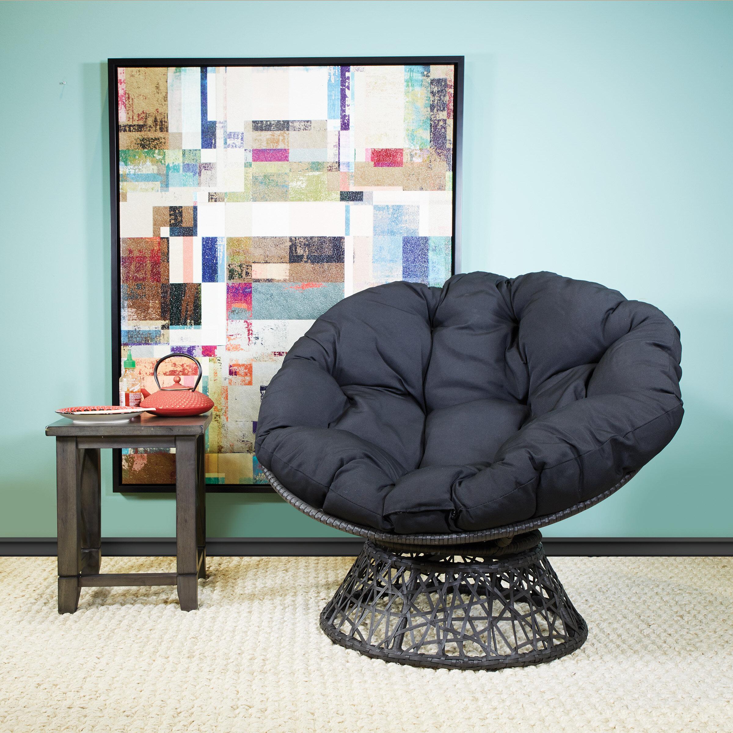 Swivel Retro Armchair Vintage Egg Seat White Vanity Dining Chair Dressing Stool