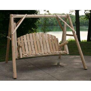 Loon Peak Cinnabar Garden Porch Swing with Stand