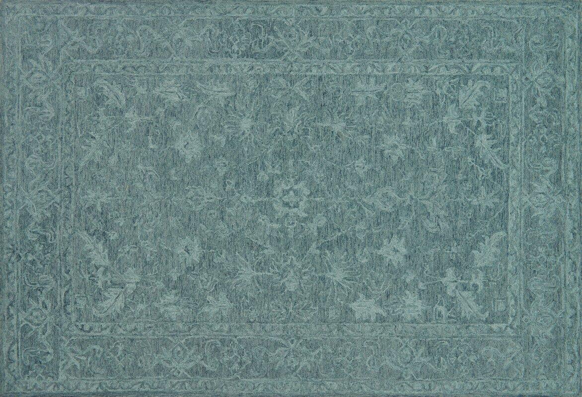 lyle handhooked teal area rug