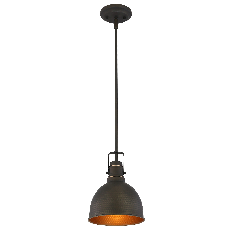 Williston forge mcmunn 1 light bell pendant light reviews wayfair