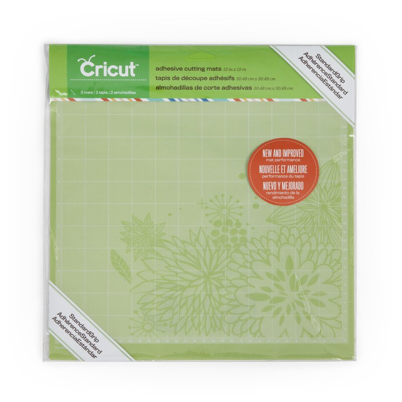 "Cricut Standard Grip 12/"" Adhesive Cutting Mat Double Pack 2001974 NEW SEALED"