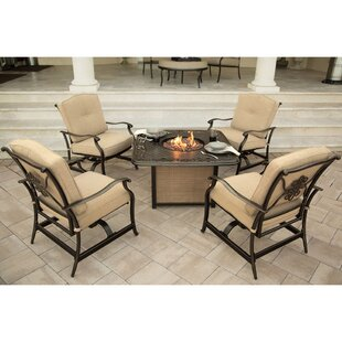 Darby Home Co Durso 5 Piece Conversational Set with Cushions
