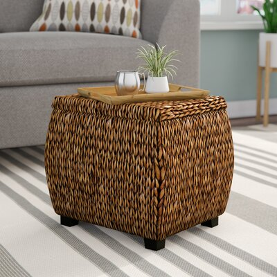 Terrific Nobles Storage Ottoman Beachcrest Home Upholstery Gold Patina Cjindustries Chair Design For Home Cjindustriesco