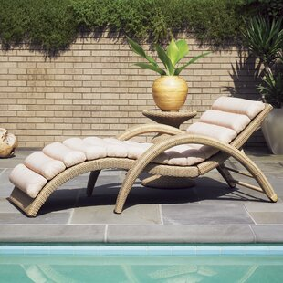 Aviano Reclining Chaise Lounge with Cushion