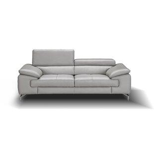 Orren Ellis Mayer Leather Sofa