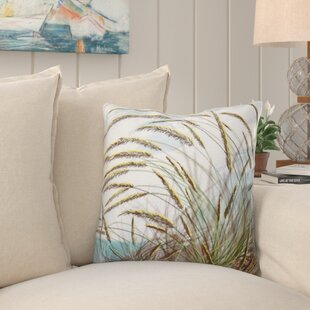 Jacque Ocean Breeze Floral Print Throw Pillow