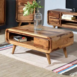 Oslo Solid Indian Rosewood Coffee Table with Storage by Porter Designs