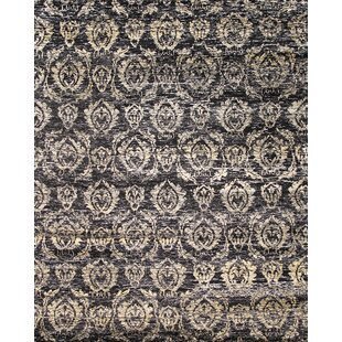 Shopping for Sari Silk Hand-Knotted Black Area Rug By Pasargad