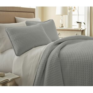Gray & Silver Quilt & Coverlet Sets You'll Love | Wayfair : silver quilted bedspread - Adamdwight.com