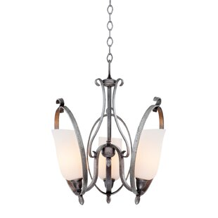 Kalco Mateo 3-Light Shaded Chandelier
