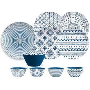 Bagby Melamine 16 Piece Dinnerware Set, Service for 4